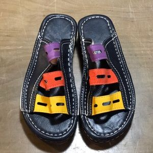 Shoes - Multi-colored leather sandals